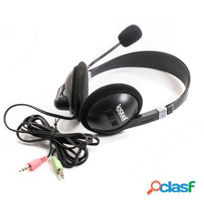 iggual Auricular + Micro Negro Jack 3. 5mm Hi-Fi, original