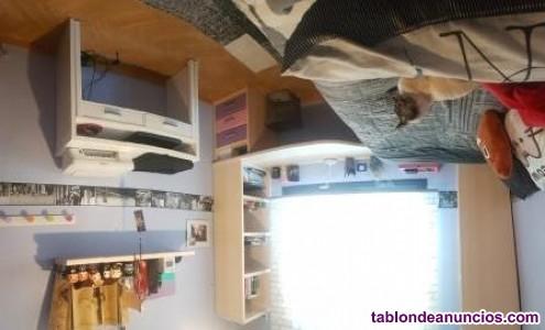 Dormitorio juvenil gran capacidad de almacenaje