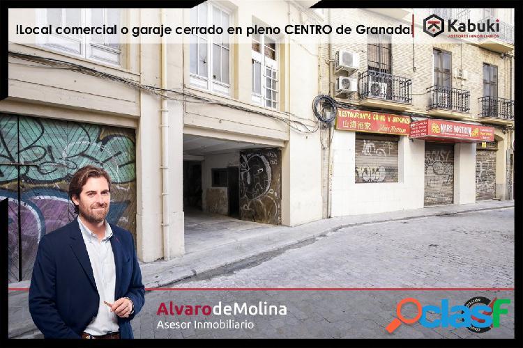 Garaje cerrado o almacén en pleno centro de Granada,