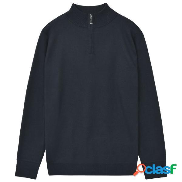 Jersey de hombre con cremallera azul marino XL