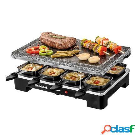 Plancha de piedra grill+raclette mondial sg-01 le gourmet -