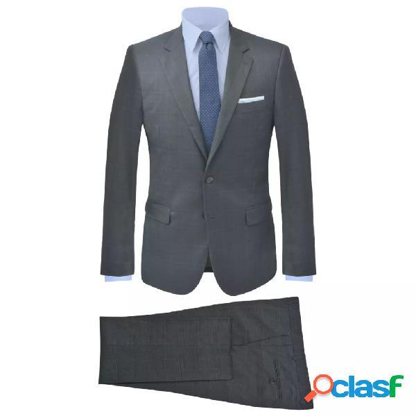 Traje de chaqueta de hombre 2 piezas cuadros antracita talla