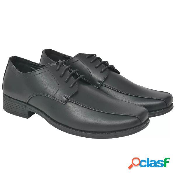 Zapatos de vestir negocios hombre cordones negros t 41 cuero