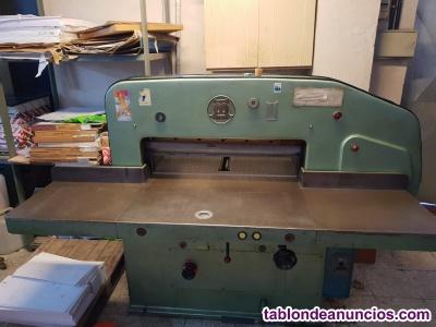 Lote de maquinaria de imprenta