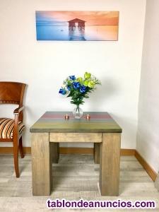 Mesa centro madera vintage