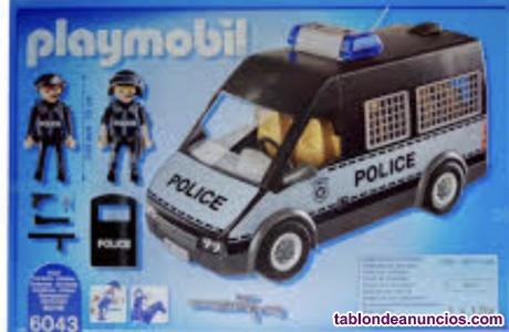 Avión y furgoneta de policía de playmobil