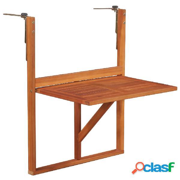 Mesa para balcón de madera de acacia maciza marrón