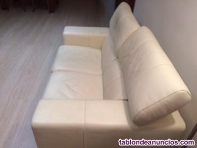 Sofa de piel 2 plazas grande