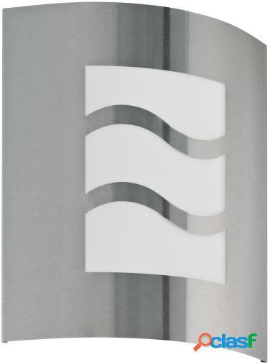 Wellindal Aplique de exterior 1 luz E27 Acero inoxidable