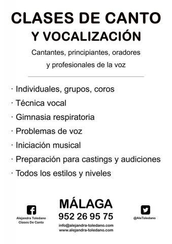 Clases de canto. Málaga. Voz hablada