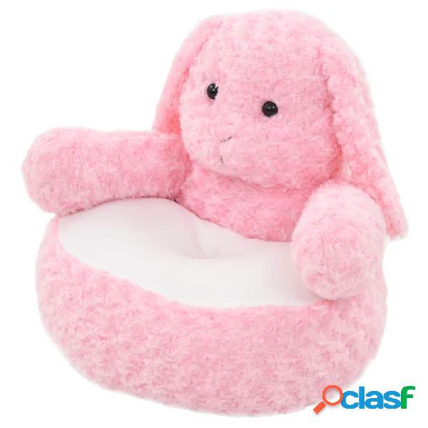Conejo de peluche rosa
