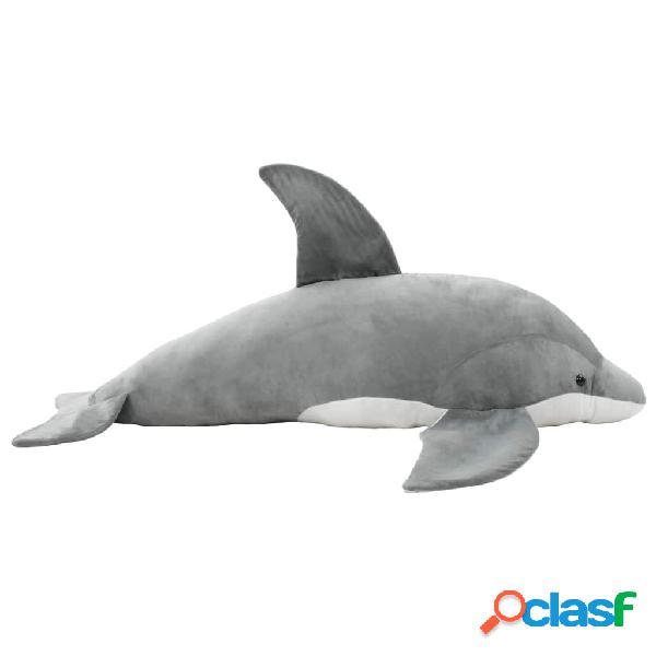 Delfín de peluche gris