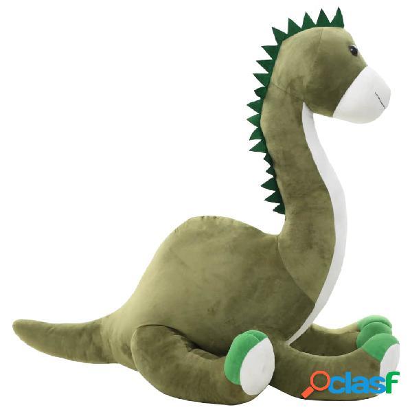 Dinosaurio Brontosaurus de peluche verde