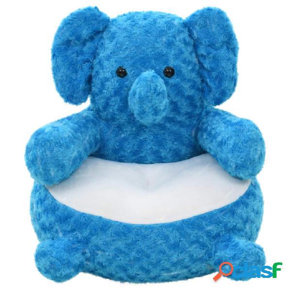 Elefante de peluche azul