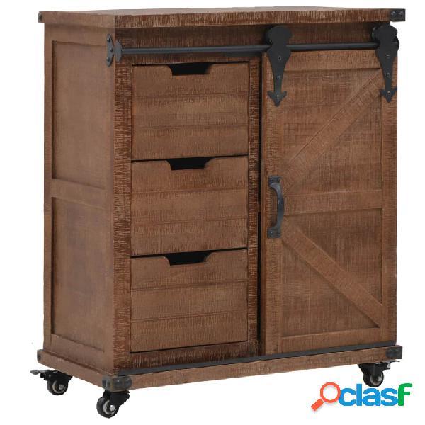 Mueble de almacenaje madera maciza abeto 64x33,5x75 cm