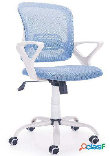 Wellindal Silla de escritorio giratoria modelo brisa azul /
