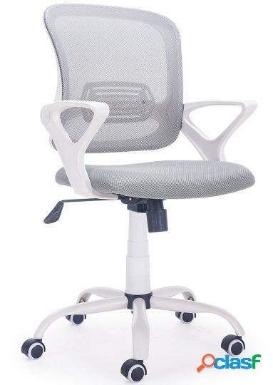 Wellindal Silla de escritorio giratoria modelo brisa gris /