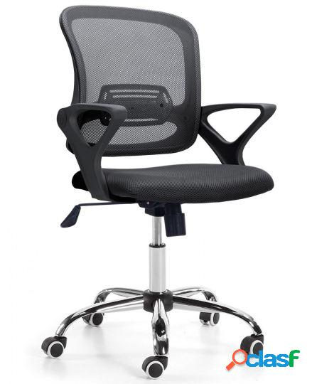 Wellindal Silla de escritorio giratoria modelo brisa negro /