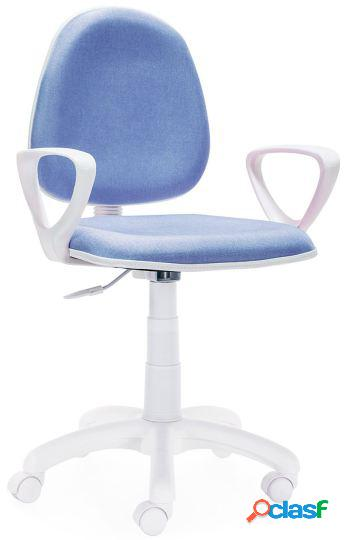 Wellindal Silla de escritorio giratoria modelo dolphin azul