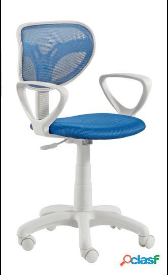 Wellindal Silla de escritorio giratoria modelo touch azul