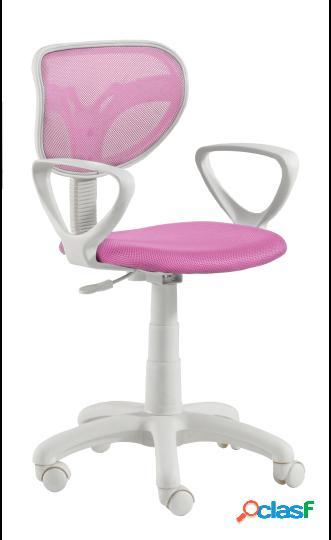 Wellindal Silla de escritorio giratoria modelo touch fucsia