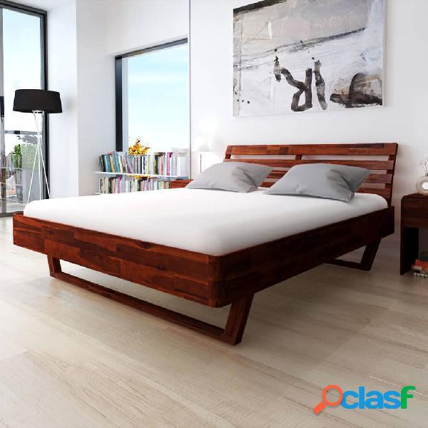 Estructura de cama 180x200 cm madera maciza de acacia