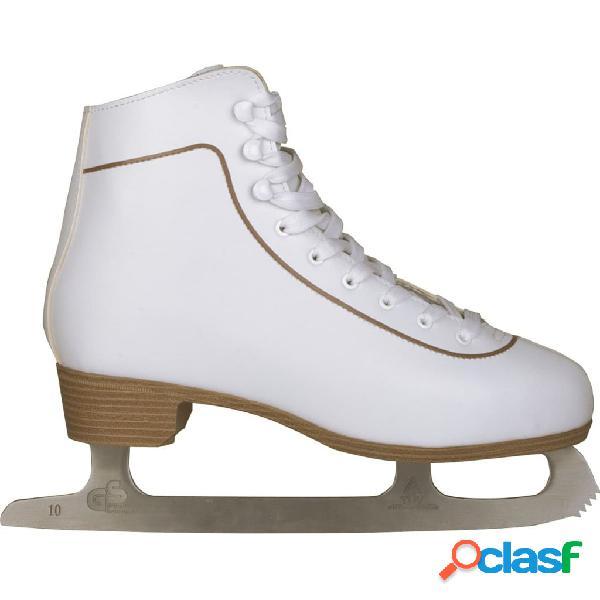 Nijdam patines cuero mujer patinaje artístico hielo 38