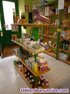 Venta de mostrador y estanterias de madera maciza de pino