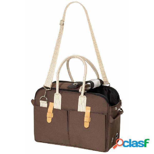 FLAMINGO Bolso de transporte para mascotas marrón 45x21x30