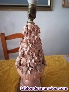 Lampara de porcelana porcelana manises años 70