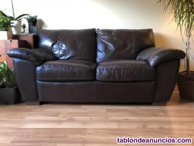 Sofa piel. 2 plazas. Buen estado