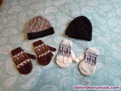 Vendo gorros y guantes de invierno