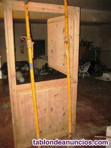 Vendo puerta rustica rehabilitada de madera de pino tea con