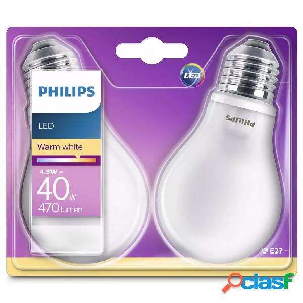 Philips Bombillas LED 2 unidades Classic 4,5 W 470 lm
