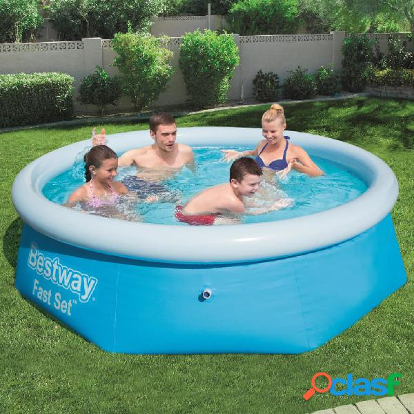 Bestway Piscina redonda inflable Fast Set 244x66 cm 57265