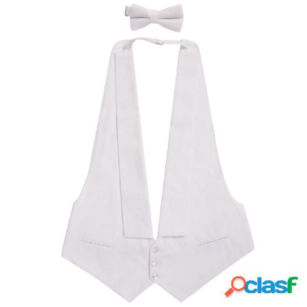 Chaleco con pajarita para hombre White Tie talla mediana