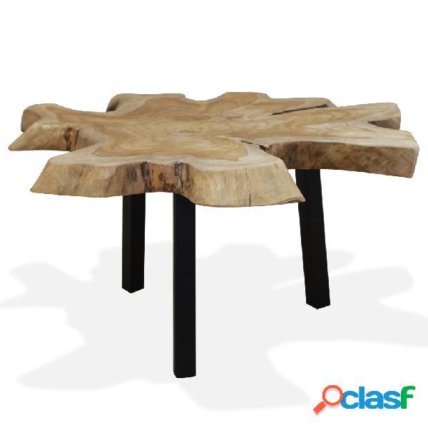 Mesa de centro de madera de teca genuina 80x70x38 cm
