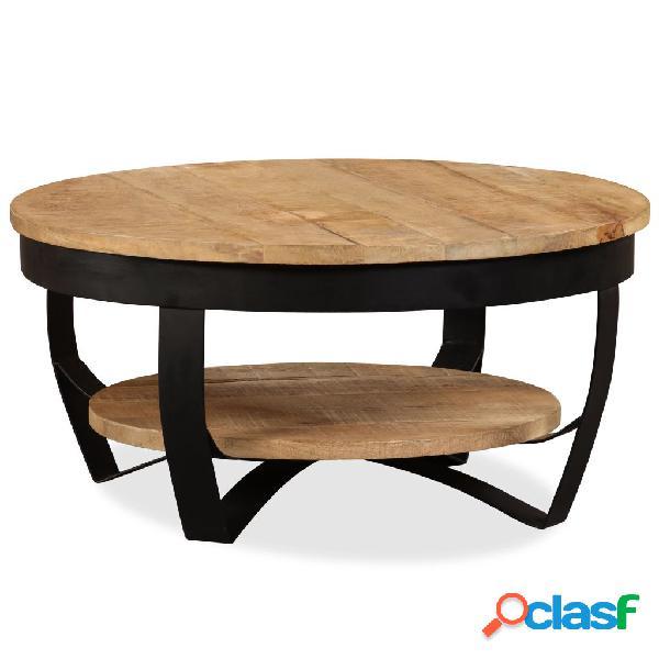 Mesa de centro de madera maciza áspera de mango 65x32 cm