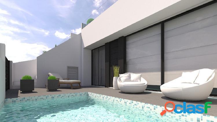 Nueva construcción de casas adosadas en una sola planta con