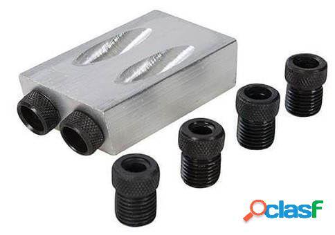 Silverline Plantilla para agujeros ocultos 6, 8 y 10mm