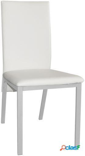 Wellindal Silla Sima 2 Tapizado Acero Pintado Blanco