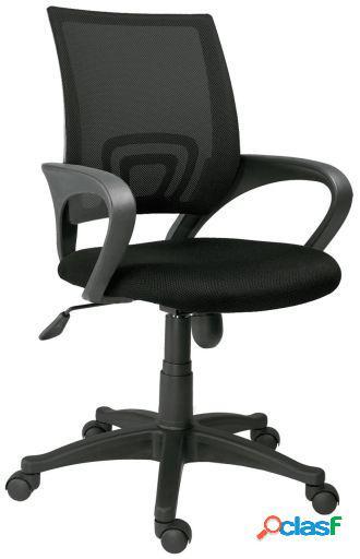Wellindal Silla de oficina giratoria modelo Logic Negro/Azul