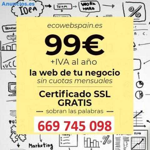 TU WEB TODO INCLUIDO POR SOLO 99 EUROS