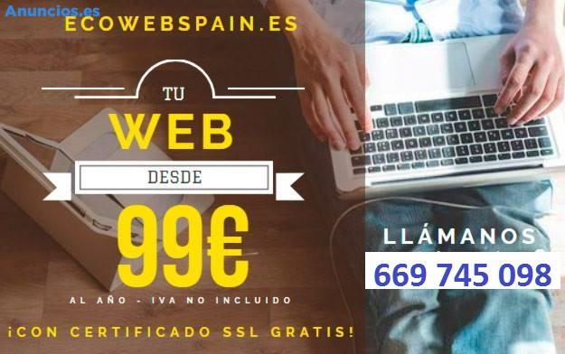 WEB TODO INCLUIDO POR SOLO 99 EUROS