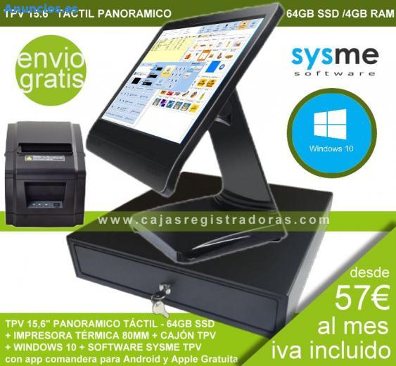 TPV 15 TáCtil 64GB SSD +Impresora+CajóN+Software+W10