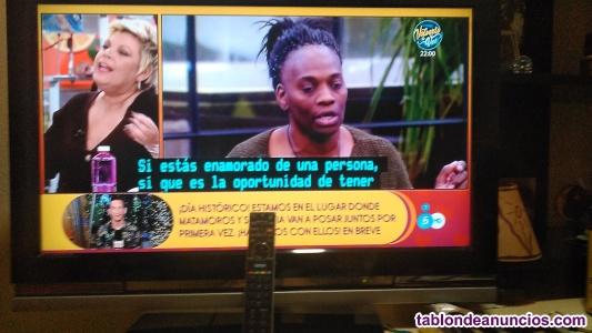 Televisión 32'' con mando a distancia.