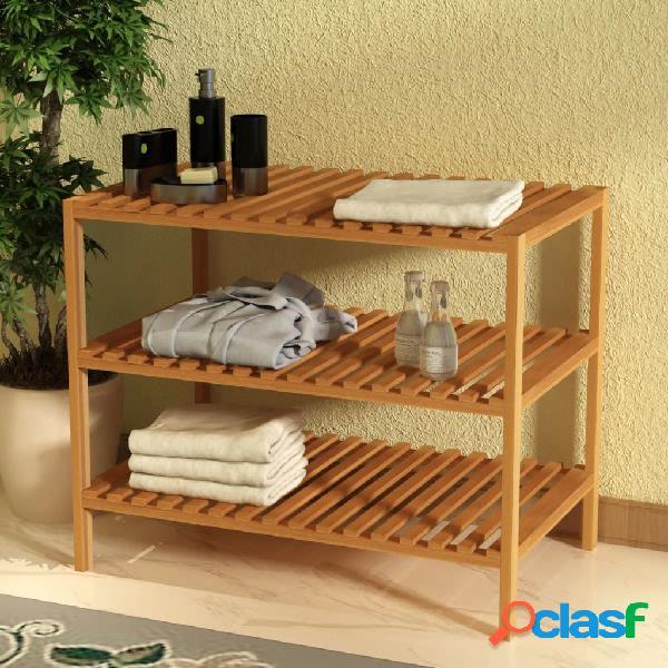 Estantería de lavabo 65x40x55 cm madera maciza de nogal