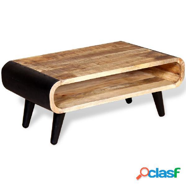 Mesa de centro de madera de mango rugosa 90x55x39 cm