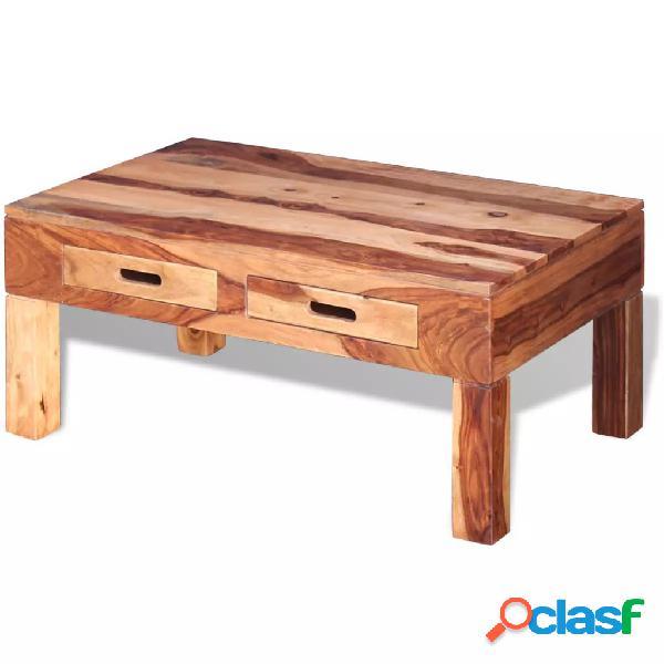Mesa de centro de madera maciza sheesham