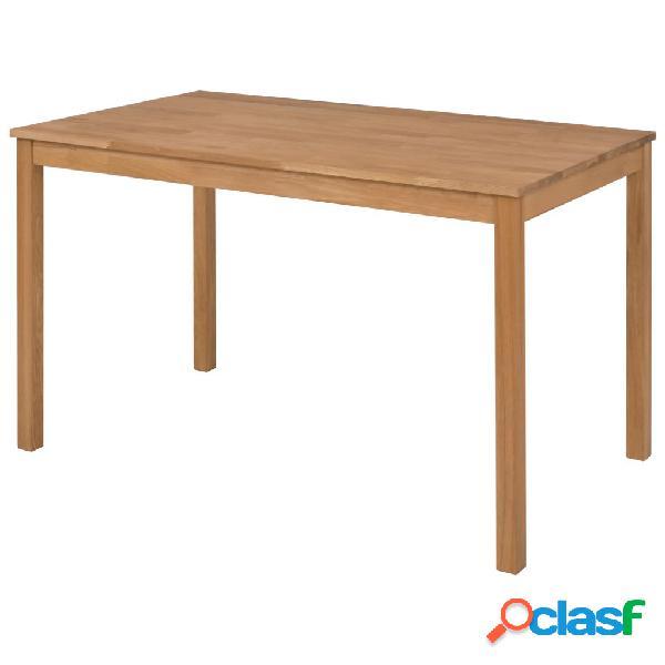 Mesa de comedor de madera maciza de roble 117x67x73 cm